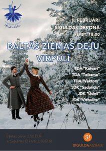 """BALTĀS ZIEMAS DEJU VIRPULĪ. JDK """"Vizbulīte"""" un draugu koncerts @ Kultūras centrs """"Siguldas devons"""""""