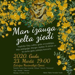 MAN IZAUGA ZELTA ZIEDI. Margas Apsītes jubilejas koncerts @ Latvijas Nacionālā opera un balets