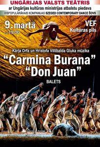 Ungārijas Valsts teātra baleta izrādes CARMINA BURANA & DON JUAN @ VEF kultūras pils