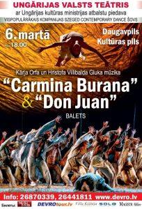 Ungārijas Valsts teātra baleta izrādes CARMINA BURANA & DON JUAN @ Daugavpils kultūras pils